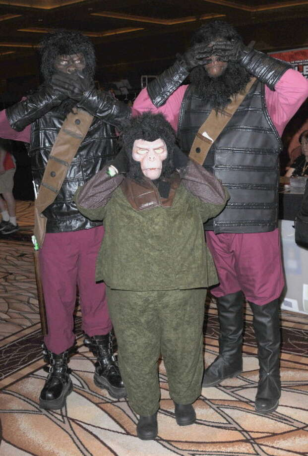 Cosplayers dressed as The Planet of the Apes participate in the 11th Annual Official Star Trek Convention - day 4 held at the Rio Suites and Hotel on August 12, 2012 in Las Vegas, Nevada. Photo: Albert L. Ortega, Getty Images / 2012 Albert L. Ortega