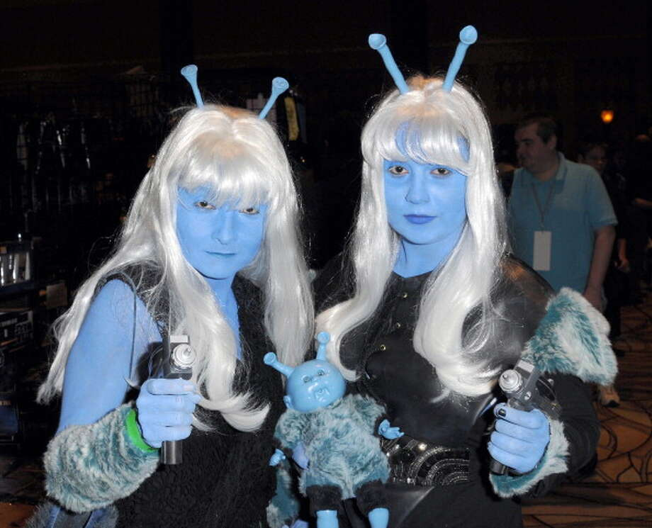Cosplayers dressed as Andorians participate in the 11th Annual Official Star Trek Convention - day 4 held at the Rio Suites and Hotel on August 12, 2012 in Las Vegas, Nevada. Photo: Albert L. Ortega, Getty Images / 2012 Albert L. Ortega