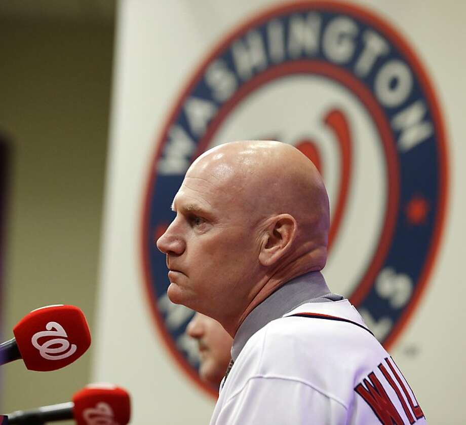 Matt Williams is introduced Friday as Washington's new manager, replacing the retired Davey Johnson. It's the first major-league managing job for the former Giants All-Star third baseman. Photo: Alex Brandon, Associated Press