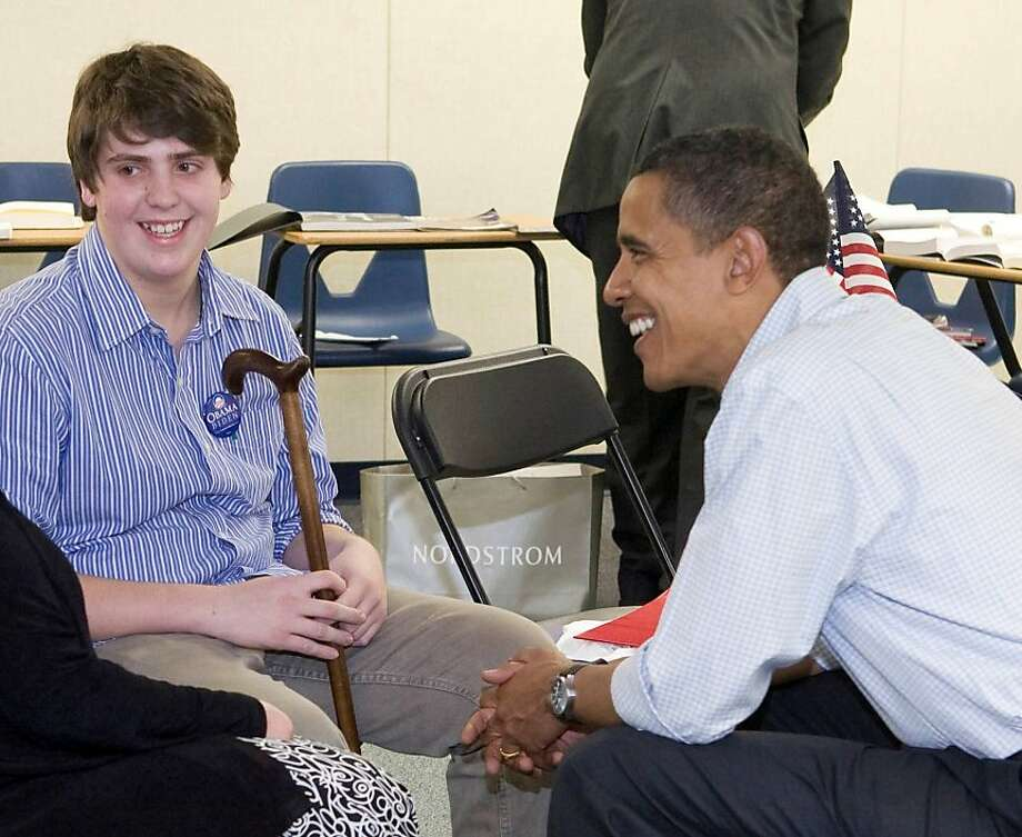 James Kessler's meeting with Sen. Barack Obama in Nevada in 2008 through the Make-A-Wish Foundation is chronicled in his mother's memoir. Photo: Make-A-Wish Foundation, Courtesy To The Chronicle