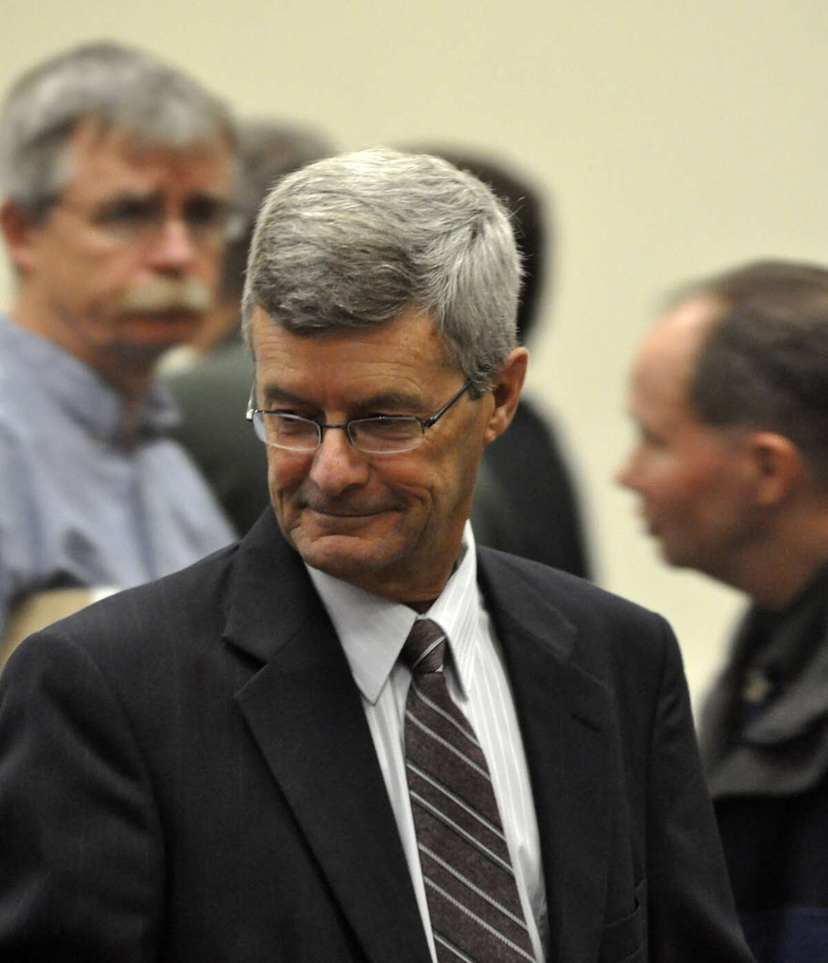 Gary Mercure, a former Catholic Priest from the Albany, N.Y. Diocese, stands trial in Berkshre County Massachusetts on charges of raping and molesting two former altar boys in the 1980s, Wednesday Feb 9, 2011, Pittsfield, Mass. (AP Photo/The Berkshire Eagle, Ben Garver/archive)