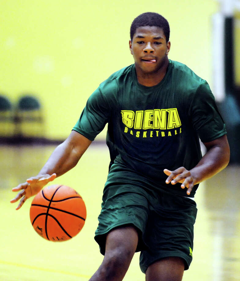 Incoming freshman Lavon Long drives up court during a pickup basketball game with his new teammates on Tuesday, June 25, 2013, at Siena College in Loudenville, N.Y. (Cindy Schultz / Times Union) Photo: Cindy Schultz / 00022962A