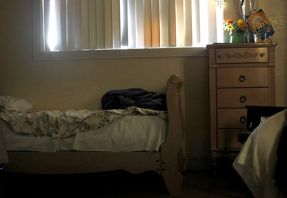 A bed stands unmade in an empty room Thursday at the Valley Springs Manor assisted-living facility, where 19 residents were left virtually abandoned after the home abruptly shut down. Photo: Lacy Atkins, The Chronicle