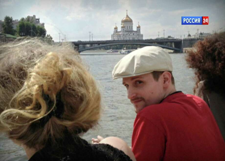 Former NSA systems analyst Edward Snowden rides a boat on the Moscow River in Russia. Photo: Associated Press