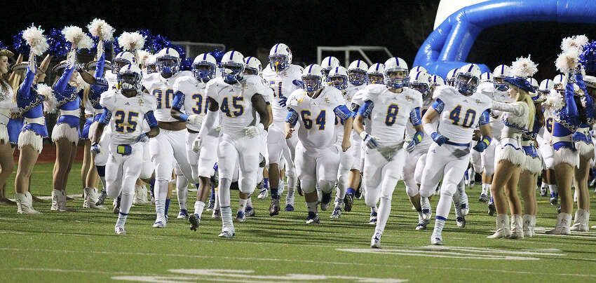The Clemens Buffaloes take the field for their game against Alamo Heights at Orem Stadium on Friday, Nov. 1, 2013.