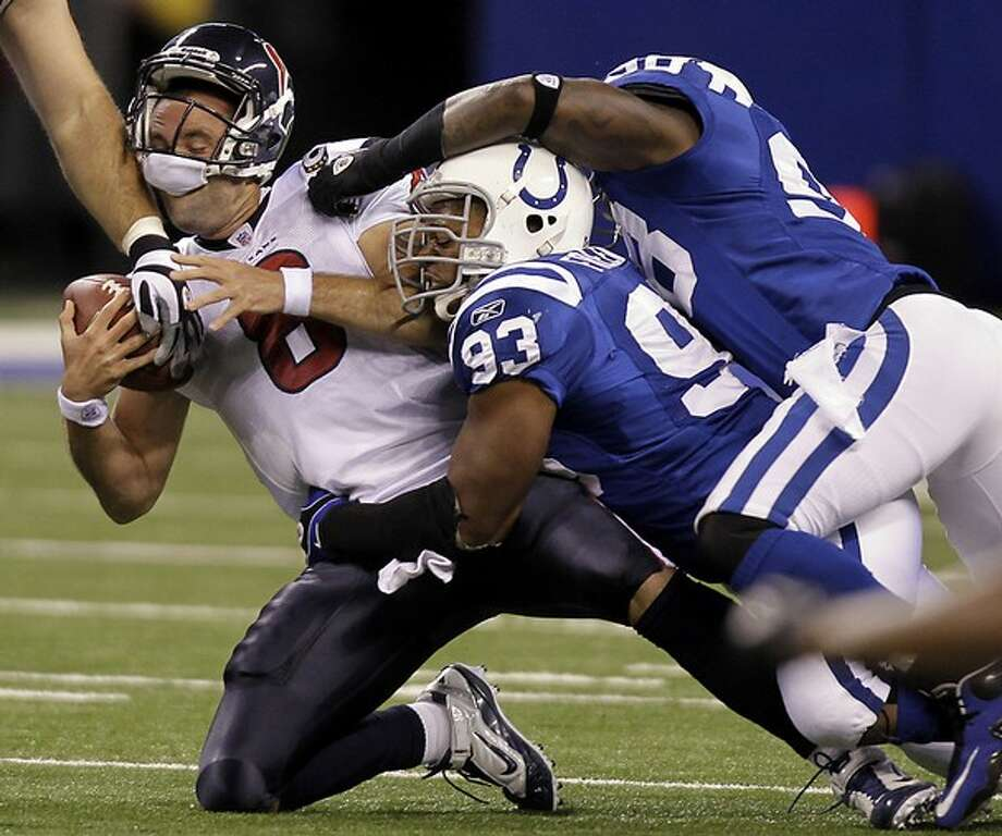 Indy's master of menace Robert Mathis (No. 98) has tormented the Texans like few others.