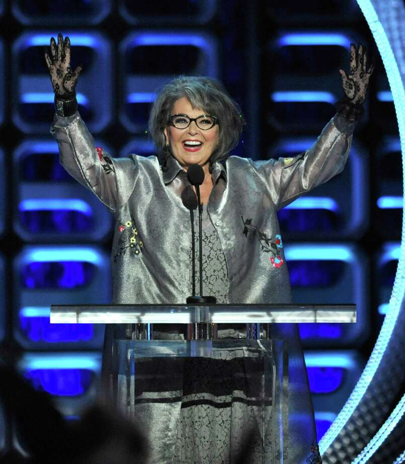 "Roseanne Barr appears on stage at the Comedy Central ""Roast of Roseanne"" at the Hollywood Palladium on Saturday, Aug. 4, 2012, in Los Angeles. (Photo by John Shearer/Invision/AP) Photo: John Shearer / Invision"
