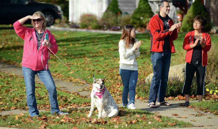 The First Annual Vicki Soto 5K through the Lordship section of Stratford, Soto's home town, is held Saturday, Nov. 2, 2013.  The fun run benefits the Vicki Soto Memorial Fund which raises money to support students that want to become educators. Photo: Autumn Driscoll / Connecticut Post