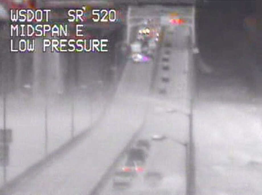 WSDOT photo shows 520 Bridge closed during windstorm on Nov. 2, 2013.
