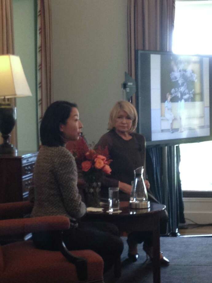 Dr. Audrey Chun, director of the Martha Stewart Center for Living at Mount Sinai Hospital and Martha Stewart at the Friends of Nathaniel Witherell fundraiser luncheon at the Round Hill Club in Greenwich on Oct. 24 Photo: File, Greenwich Time / Greenwich Time