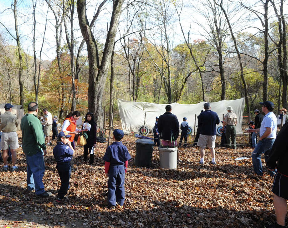 "The Greenwich Scouts ""Turkey Shoot"" event at Seton Scout Reservation in Glenville, Saturday, Nov. 2, 2013. Photo: Bob Luckey / Greenwich Time"