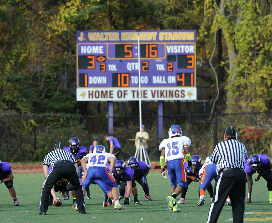 High school football game between Westhill High School and Danbury High School at Westhill High School in Stamford, Saturday, Nov. 2, 2013. Photo: Bob Luckey / Greenwich Time