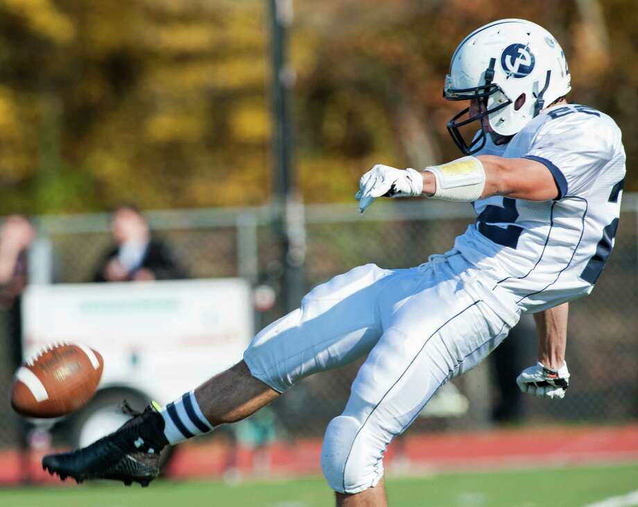 Wilton high school against Darien high school during a football game played at Darien high school, Darien, CT on Saturday, November, 2nd, 2013. Photo: Mark Conrad / Stamford Advocate Freelance