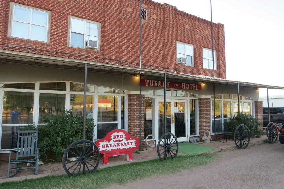 The Turkey Hotel opened in 1927. The town, originally Turkey Roost, is 100 miles northeast of Lubbock. Photo: Joe Holley, Staff / Houston Chronicle