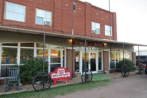 The Turkey Hotel opened in 1927. The town, originally Turkey Roost, is 100 miles northeast of Lubbock.