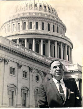 Congressman Henry B. Gonzalez, seen here in 1966, is famous for a filibuster in the Texas Legislature against segregationist bills, his fiery leadership of congressional investigations — and the time he punched a guy in Earl Abel's restaurant for calling him a communist. Photo: Special To The San Antonio Express-News