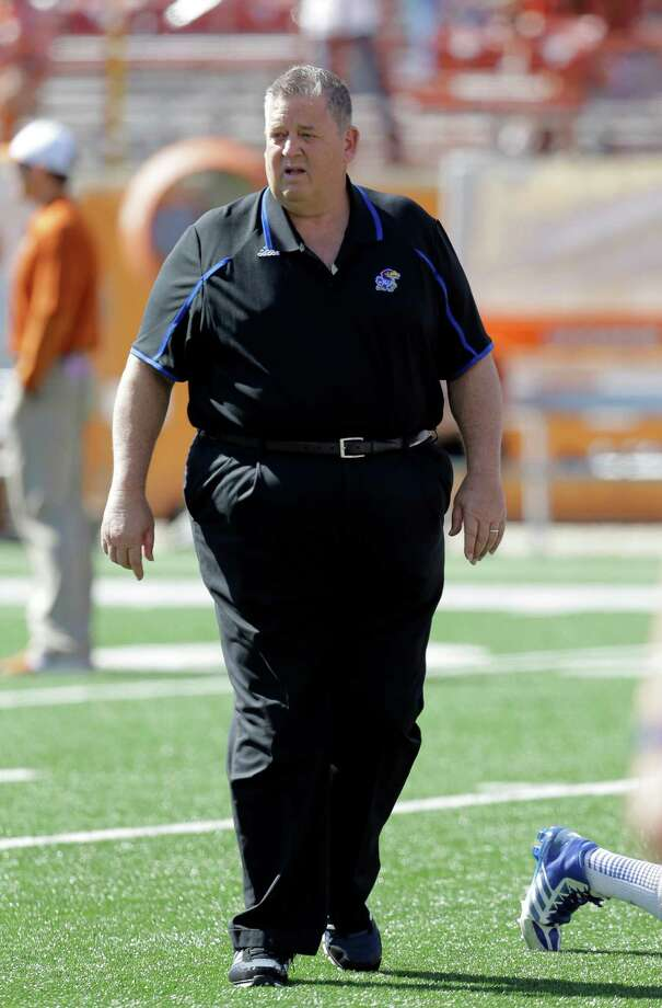 Kansas coach Charlie Weis prior to an NCAA college football game against Texas, Saturday, Nov. 2, 2013, in Austin, Texas. (AP Photo/Eric Gay) Photo: Eric Gay, Associated Press / AP