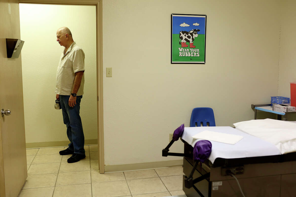 Unable to perform abortions for the first time in over 30 years, Dr. Lester Minto spends a quiet morning at his clinic, Reproductive Services of Harlingen, on Saturday, Nov. 2, 2013.