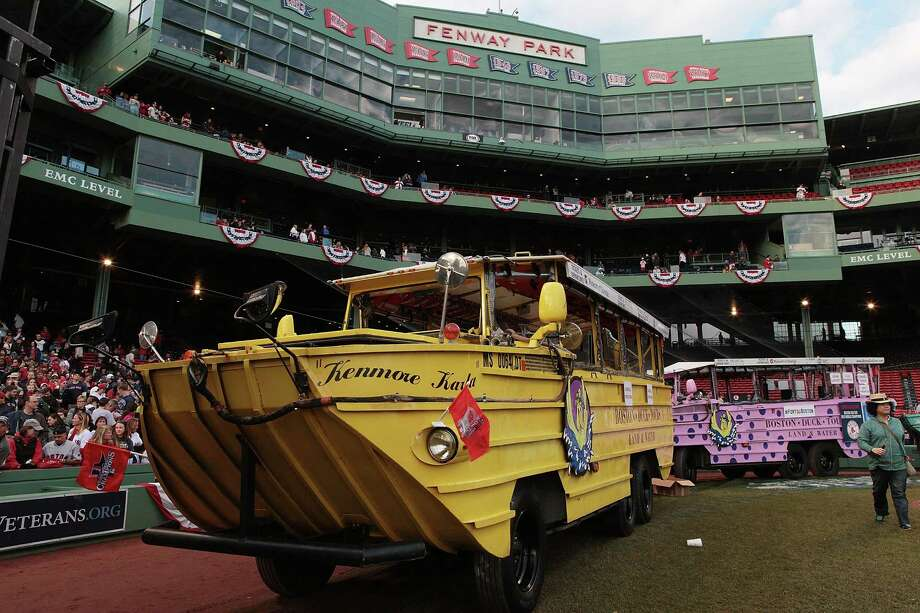 BOSTON, MA - NOVEMBER 2:  Duck boats assemble at Fenway Park before the World Series victory parade for the Boston Red Sox on November 2, 2013 in Boston, Massachusetts. Photo: Gail Oskin, Getty Images / Getty Images