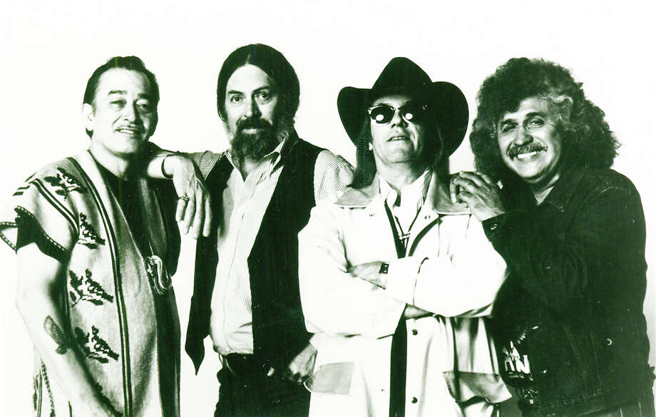The Texas Tornados: Flaco Jimenez (from left), Augie Meyers, Dough Sahm and Freddy Fender Photo: FILE PHOTO