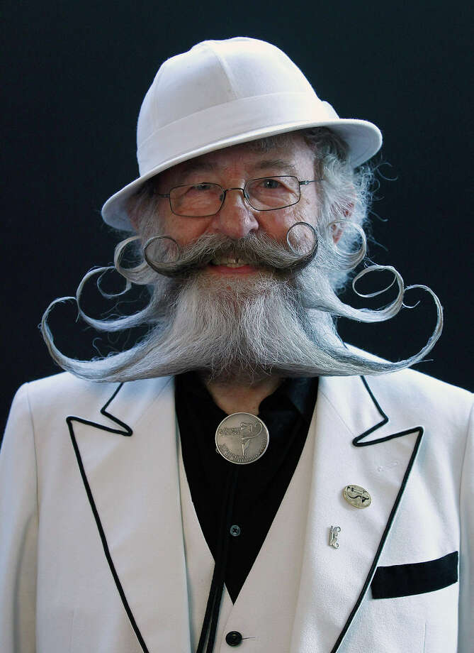 Gerhard Knapp of Germany poses before taking part in the Beard World Championship 2013 in Leinfelden-Echterdingen near Stuttgart November 2, 2013. More than 300 people from around the world compete in different mustache and beard categories. Photo: © Michaela Rehle / Reuters, Reuters / X01425