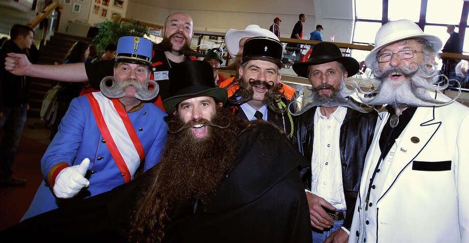 Participants react before the beginning of the Beard World Championship 2013 in Leinfelden-Echterdingen near Stuttgart November 2, 2013. More than 300 people from around the world compete in different mustache and beard categories. Photo: © Michaela Rehle / Reuters, Reuters / X01425