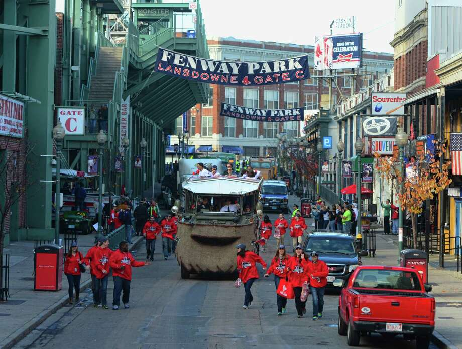 BOSTON, MA - NOVEMBER 2:  A victory parade celebrating the Boston Red Sox World Series win makes its way down Lansdowe Street on November 2, 2013 in Boston, Massachusetts. Photo: Michael Ivins/Boston Red Sox, Getty Images / Getty Images
