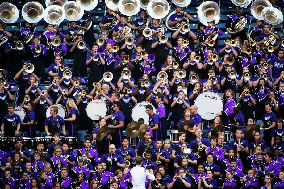 The Stephen F. Austin band plays during the the first half. Photo: Smiley N. Pool, Houston Chronicle / © 2013  Houston Chronicle