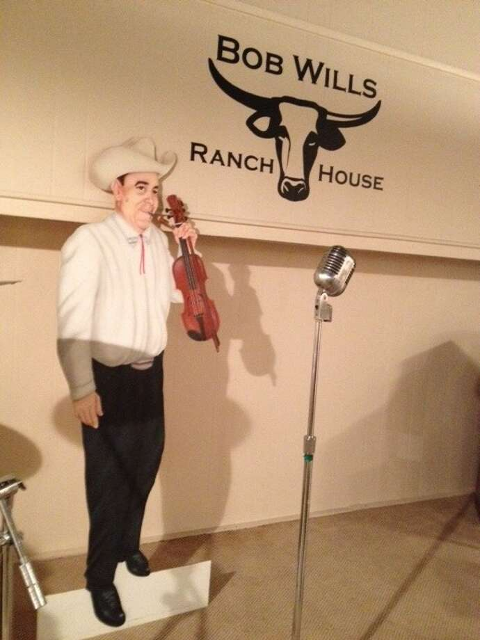 The Bob Wills Museum features a life-sized cutout of the famous musician, in Turkey, Texas. Photo: Joe Holley, Houston Chronicle / Houston Chronicle