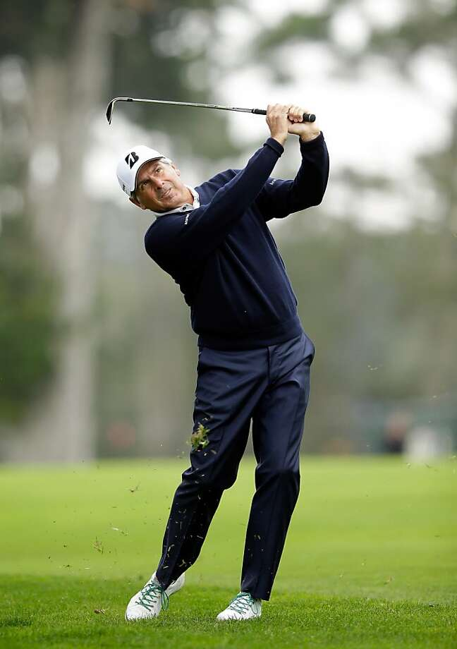 Fred Couples has a robust lead after three rounds of the Charles Schwab Cup Championship at Harding Park in San Francisco, where the course is an ideal fit for his playing style. Photo: Ezra Shaw, Getty Images