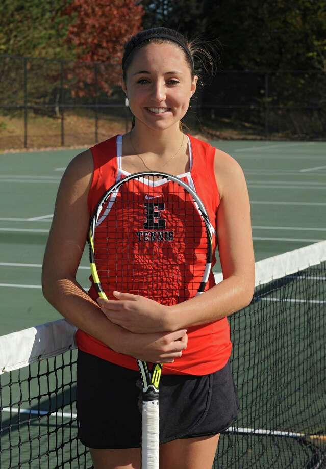Emma Willard tennis player Claire Schmitz on Tuesday, Oct. 29, 2013 in Troy, N.Y.  (Lori Van Buren / Times Union) Photo: Lori Van Buren / 00024426A