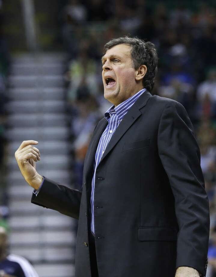 Rockets head coach Kevin McHale shouts to his team. Photo: Rick Bowmer, Associated Press