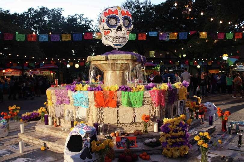 Revelers Attend The D 237 A De Los Muertos Celebration At La