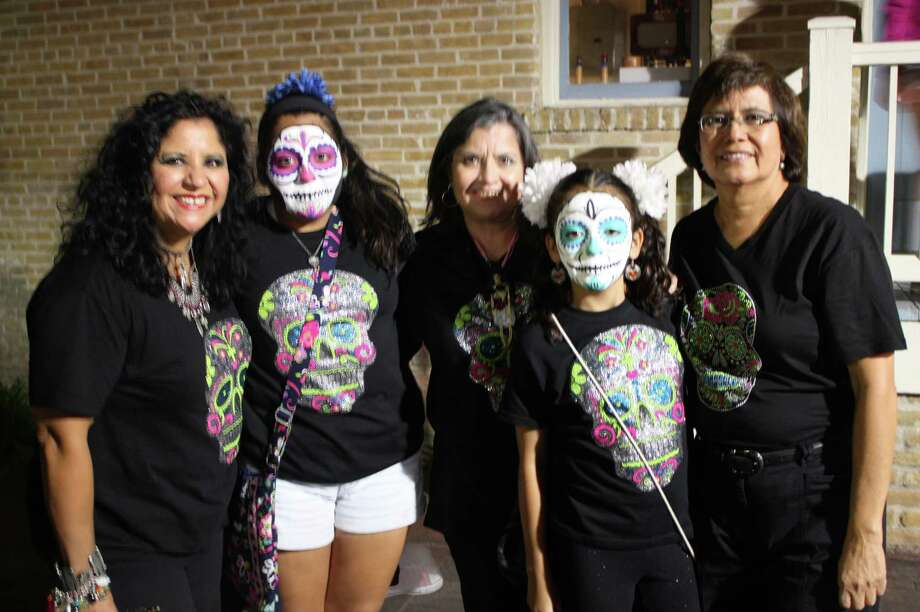 Revelers attend the Día de los Muertos celebration at La Villita on Saturday, Nov. 2, 2013. Photo: Libby Castillo / For MySA.com