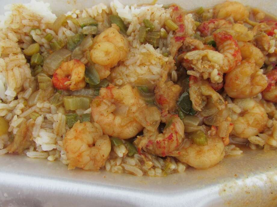 Shrimp etouffee at the Jamaican Cajun food truck. Photo: Cat5