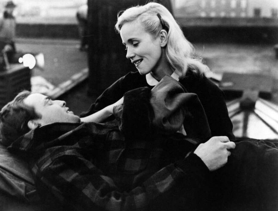 American actress Eva Marie Saint smiling at the American actor Marlon Brando in On the Waterfront. 1954 (Photo by Mondadori Portfolio by Getty Images) Photo: Mondadori, Mondadori Via Getty Images / Mondadori