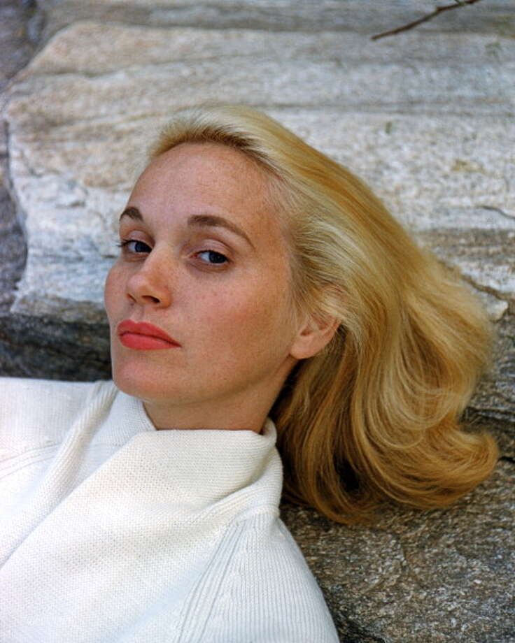 Headshot of Eva Marie Saint, US actress, wearing a white knitted cardigan, posing against a rock, circa 1960.  (Photo by Silver Screen Collection/Getty Images) Photo: Silver Screen Collection, Getty Images / Moviepix