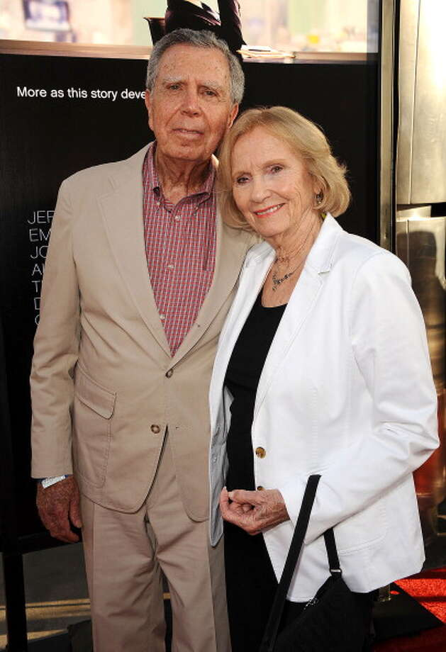 "2012: Jeffrey Hayden and Eva Marie Saint attend the premiere of HBO's ""Newsroom"" at ArcLight Cinemas Cinerama Dome on June 20, 2012 in Hollywood, California.  (Photo by Jason LaVeris/FilmMagic) Photo: Jason LaVeris, FilmMagic / 2012 Jason LaVeris"