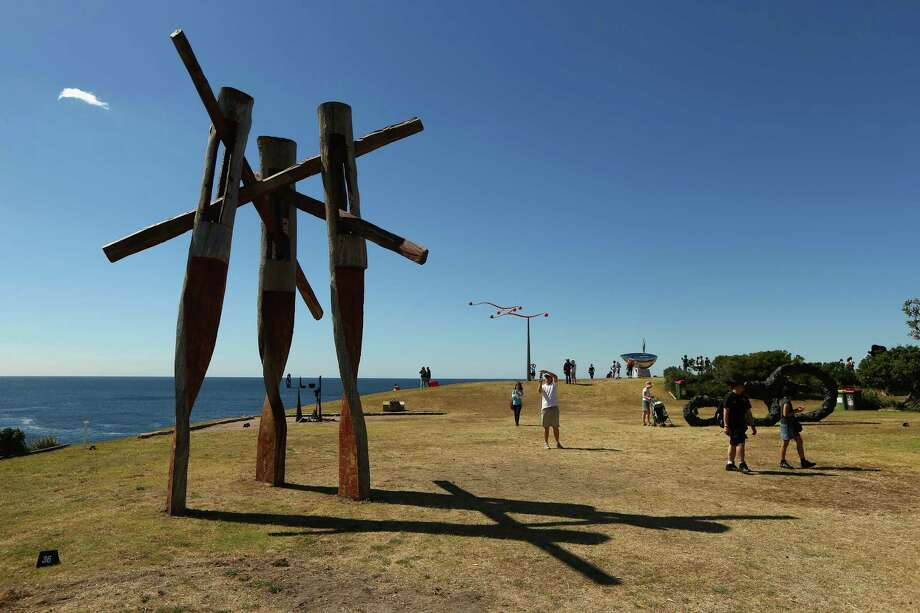 'Fallout' by artist Stephen King is displayed during the 2013 Sculptures by the Sea exhibition at Bondi on October 24, 2013 in Sydney, Australia. Photo: Cameron Spencer, Getty Images / 2013 Getty Images
