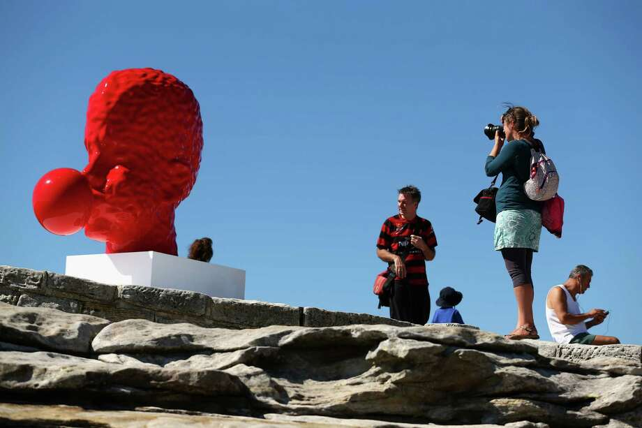 'Bubble No:5' by Qian Sihua is displayed during the 2013 Sculptures by the Sea exhibition at Bondi on October 24, 2013 in Sydney, Australia. Photo: Cameron Spencer, Getty Images / 2013 Getty Images