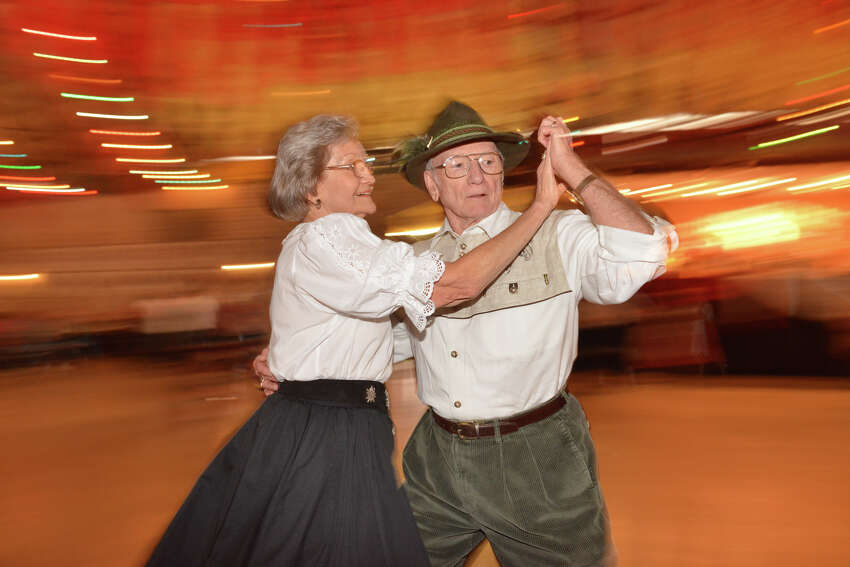 Doris and Pat Mollenhauer dance during Wurstfest on Sunday afternoon, Nov. 3, 2013, in New Braunfels.