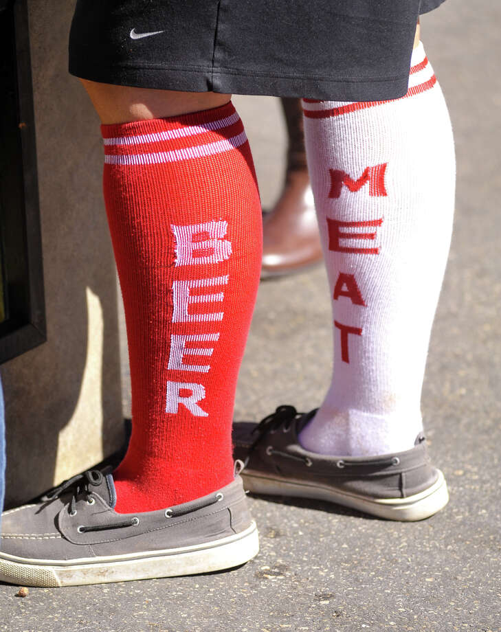 The socks of Mandi Mawyer wore to Wurstfest in New Braunfels on Sunday, Nov. 3, 2013. Photo: Robin Jerstad