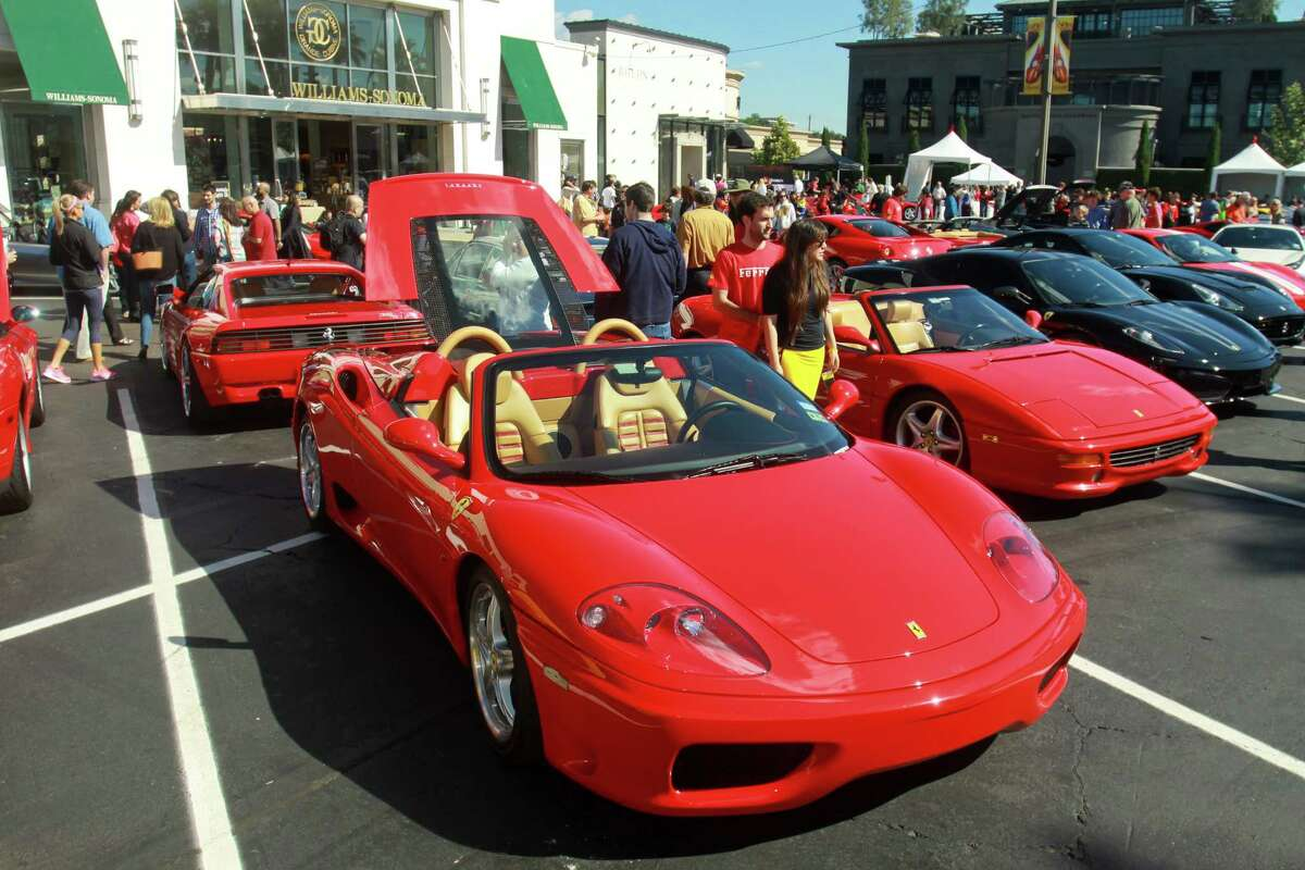 (For the Chronicle/Gary Fountain, November 3, 2013) The Highland village Ferrari Festival. In the foreground is a Ferrari 360 Modena Spider.
