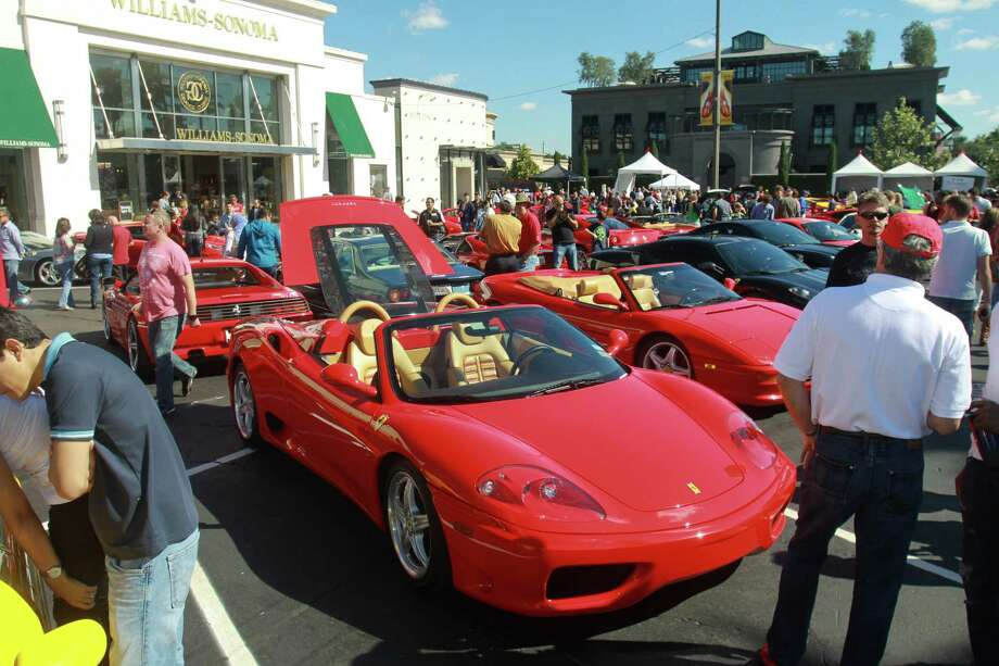 (For the Chronicle/Gary Fountain, November 3, 2013) The Highland village Ferrari Festival. In the foreground is a Ferrari 360 Modena Spider. Photo: Gary Fountain, For The Chronicle / Copyright 2013 Gary Fountain.