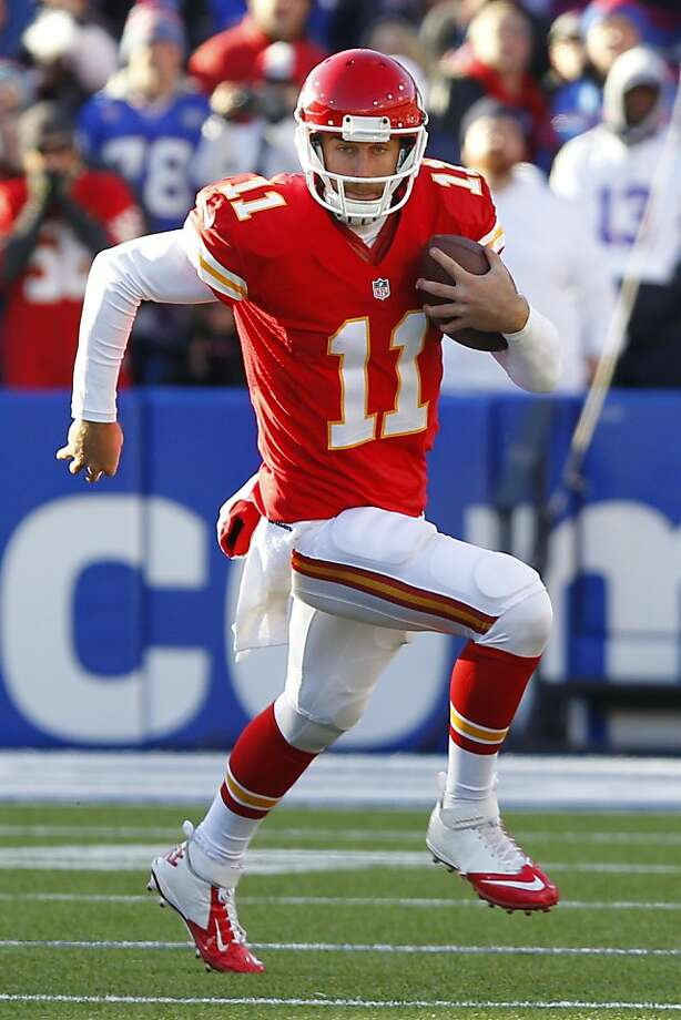 Quarterback Alex Smith was unable to get the Chiefs' offense into the end zone. Photo:      Bill Wippert, Associated Press