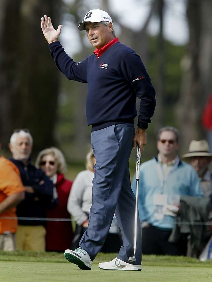 Fred Couples won the Schwab Cup Championship at Harding Park with a four-round total of 17-under-par. Photo: Brant Ward, The Chronicle
