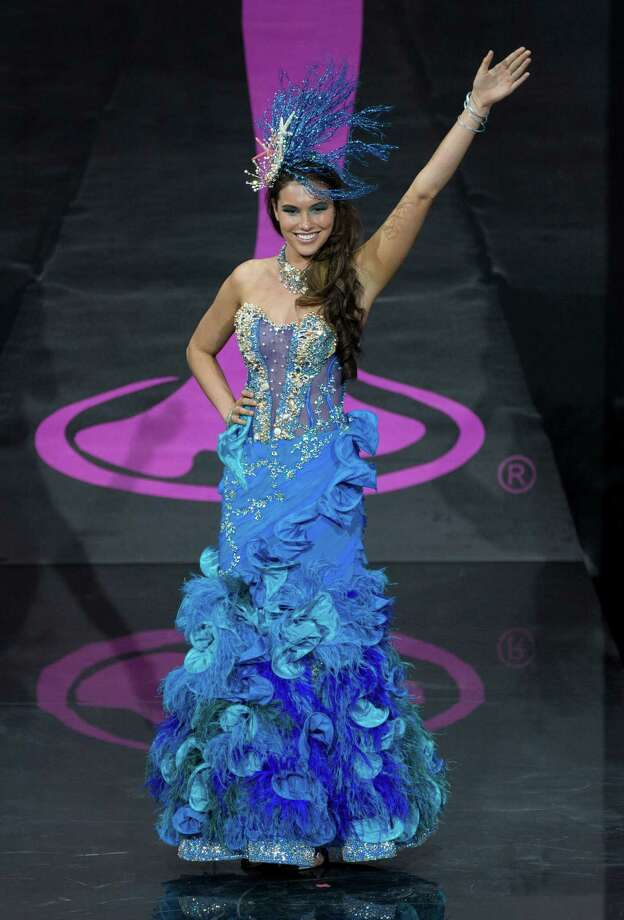 Miss Australia Olivia Wells presents her outfit, during the national costume show at the 2013 Miss Universe pageant in Moscow, Russia, on Sunday, Nov. 3, 2013. Photo: Pavel Golovkin, Associated Press / AP