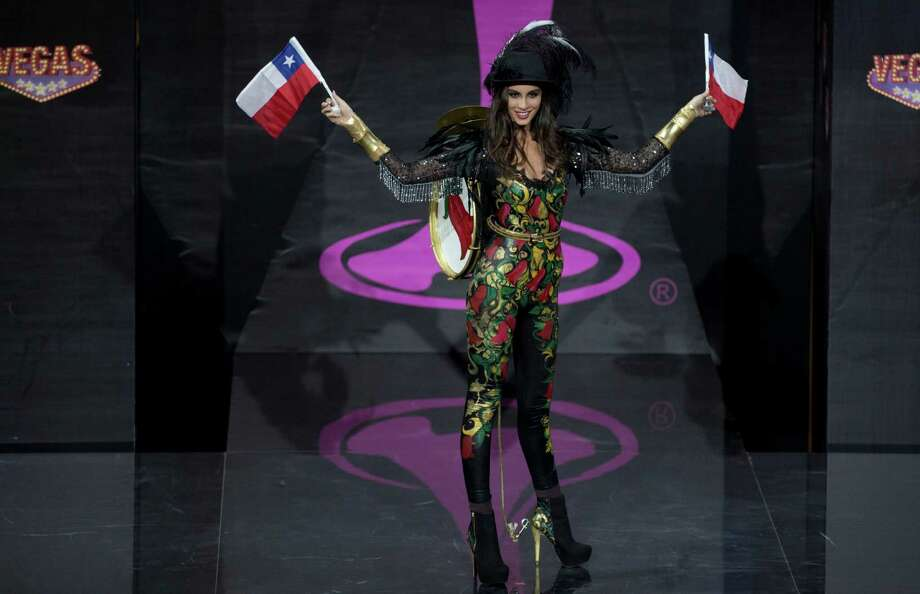 Miss Chile Maria-Jesus Matthei presents her outfit, during the national costume show at the 2013 Miss Universe pageant in Moscow, Russia, on Sunday, Nov. 3, 2013. Photo: Pavel Golovkin, Associated Press / AP