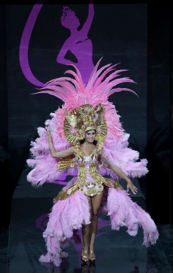 Miss Costa Rica Fabiana Granados presents her outfit, during the national costume show at the 2013 Miss Universe pageant in Moscow, Russia, on Sunday, Nov. 3, 2013. Photo: Pavel Golovkin, Associated Press / AP