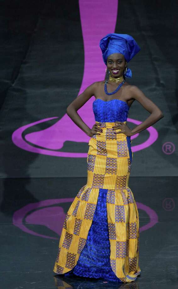 Miss Ghana Hanniel Jamin presents her outfit, during the national costume show at the 2013 Miss Universe pageant in Moscow, Russia, on Sunday, Nov. 3, 2013. Photo: Pavel Golovkin, Associated Press / AP